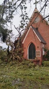 Advent, Marion, following Hurricane Matthew.